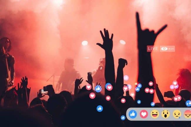 video en directo de evento cultural, concierto