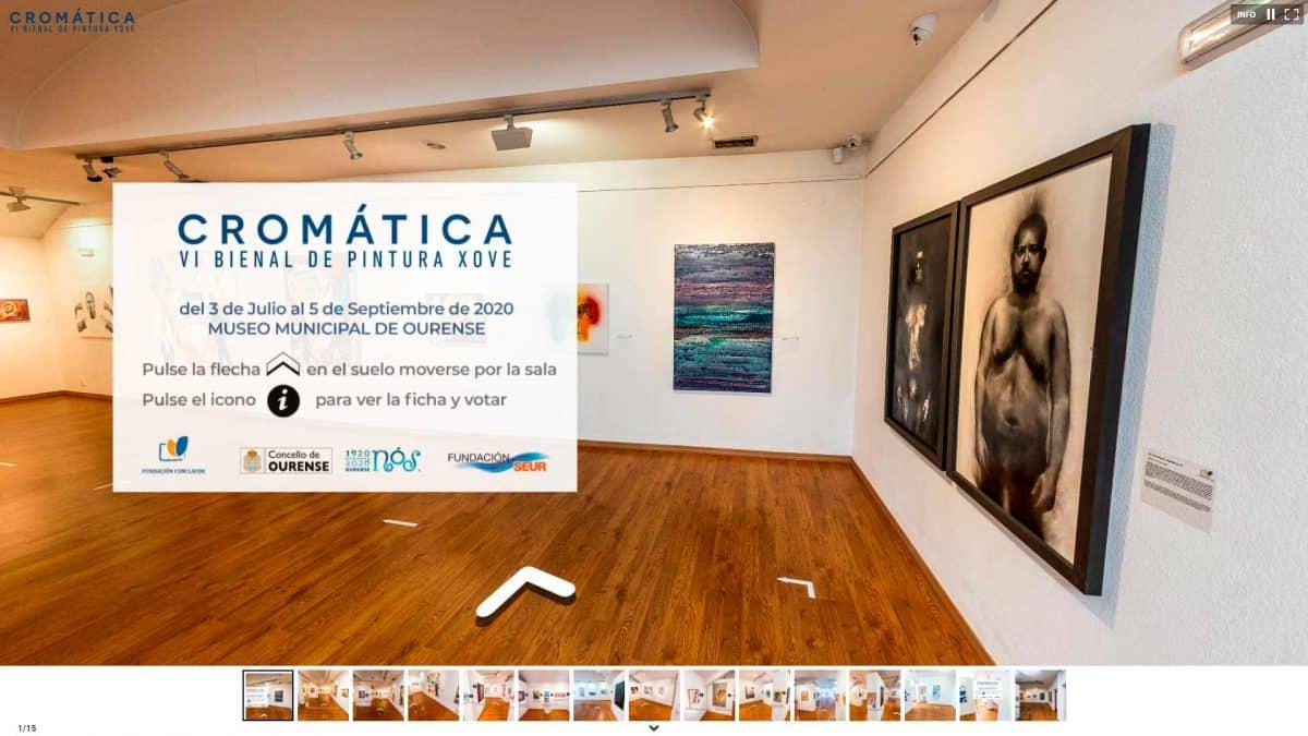 visita virtual exposición de pintura en museos
